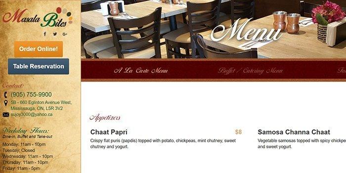 Masala Bites Restaurant In Mississauga
