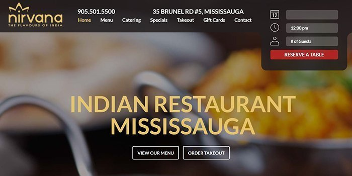 Nirvana Restaurant In Mississauga