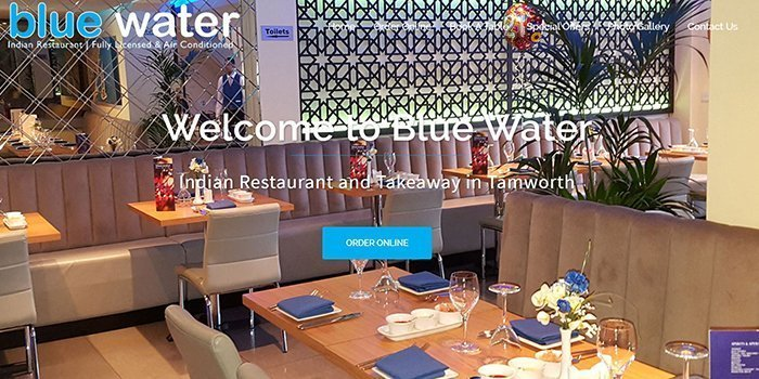 Blue Water Indian Restaurant In Tamworth