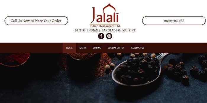 Jalali Indian Restaurant In Tamworth
