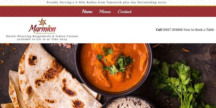 Marmion Balti Indian Restaurant In Tamworth