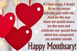 Message distance monthsary for her long Long Distance