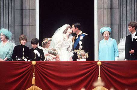 Charles and Diana Kiss