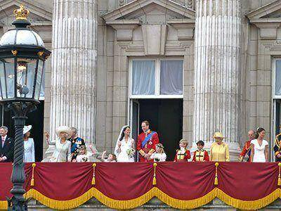 William and Kate on the after wedding balcony