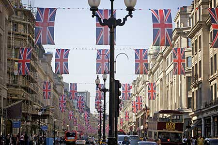 Flags on Regent Street